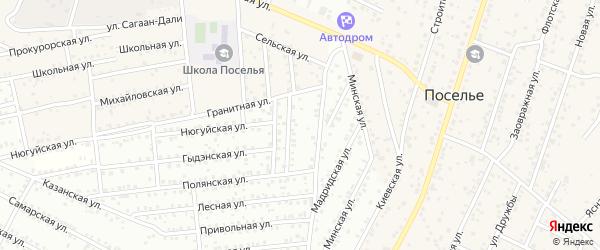 ДНТ Баяр плюс Минская улица на карте села Поселье с номерами домов