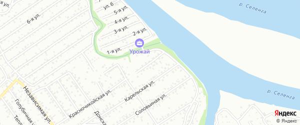 Красночикойская улица на карте Улан-Удэ с номерами домов