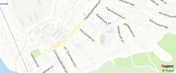 Ногинская улица на карте Улан-Удэ с номерами домов