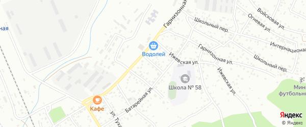 Березовская улица на карте Улан-Удэ с номерами домов