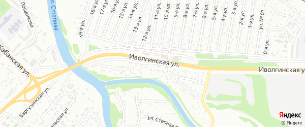 Улица Степная Протока (ДНТ Весна) на карте Улан-Удэ с номерами домов