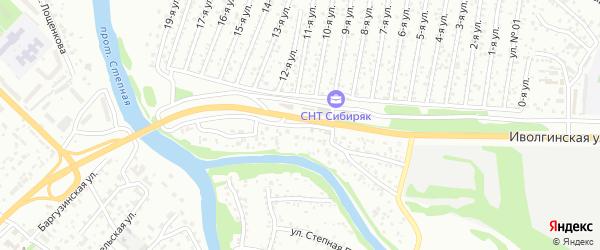 Улица Степная Протока на карте Улан-Удэ с номерами домов