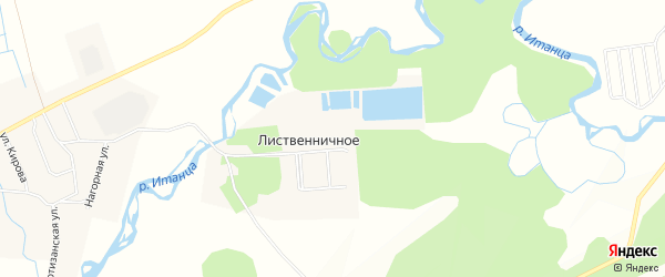 Карта Лиственичного села в Бурятии с улицами и номерами домов