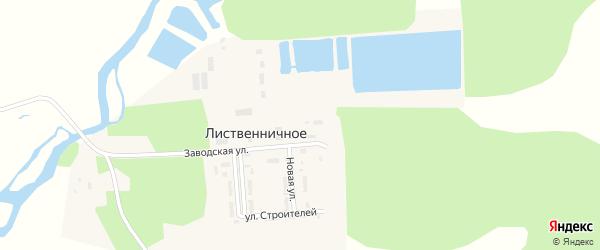 Улица Строителей на карте Лиственичного села с номерами домов