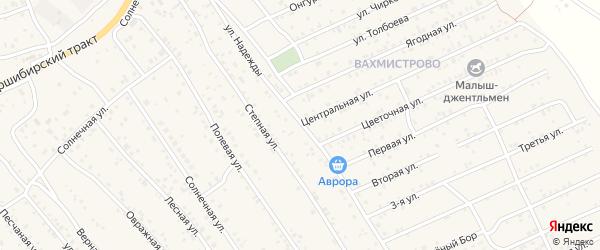 Улица Надежды на карте села Нижнего Саянтуя с номерами домов