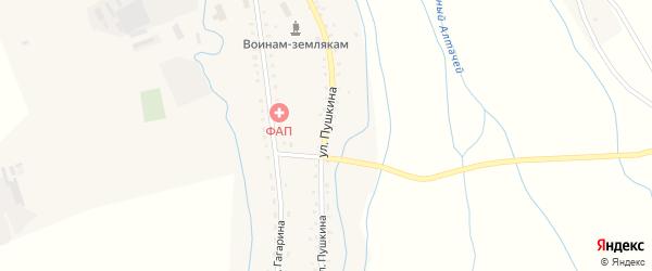 Улица Пушкина на карте села Петропавловки с номерами домов