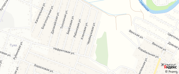 Черемуховая улица на карте села Поселье с номерами домов