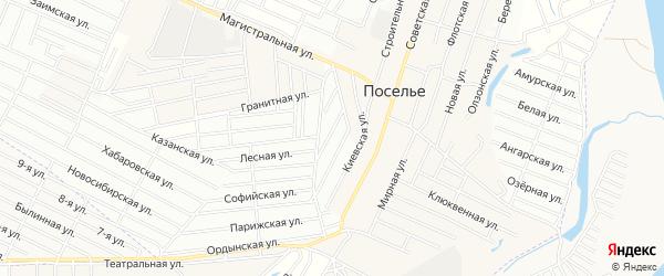 СНТ Авиатор плюс на карте Улан-Удэ с номерами домов