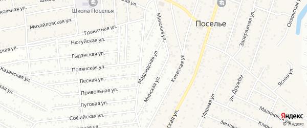 11-ая улица на карте СНТ Авиатора плюс с номерами домов