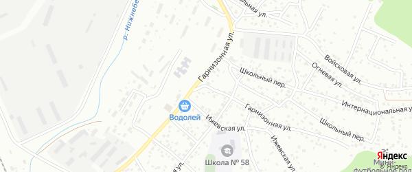 Гарнизонная улица на карте Улан-Удэ с номерами домов