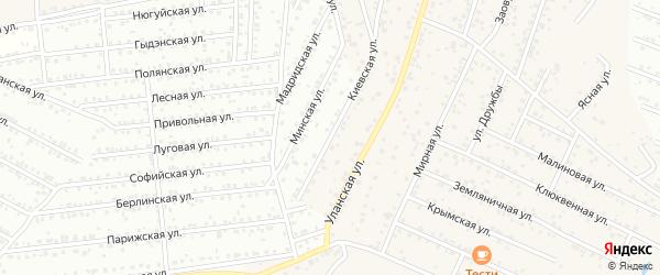 Киевская улица на карте Улан-Удэ с номерами домов