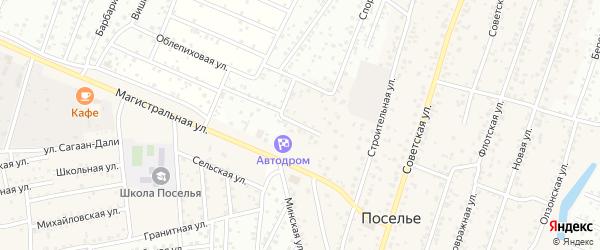 Жемчужный переулок на карте села Поселье с номерами домов