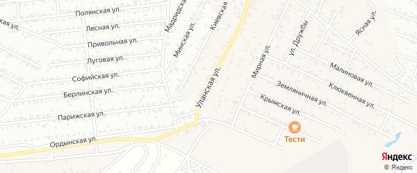 Уланская улица на карте села Поселье с номерами домов