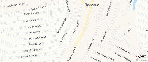 Киевская улица на карте села Поселье с номерами домов