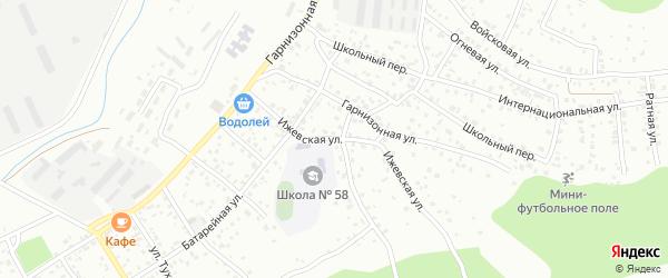 Ижевская улица на карте Улан-Удэ с номерами домов