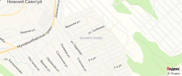ДНП Вахмистрово на карте села Нижнего Саянтуя с номерами домов