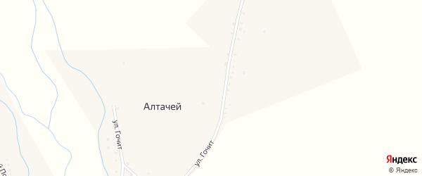 Улица Гочит на карте улуса Алтачей с номерами домов
