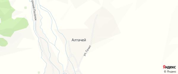 Карта улуса Алтачей в Бурятии с улицами и номерами домов