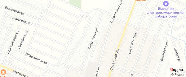 Спортивная улица на карте села Поселье с номерами домов