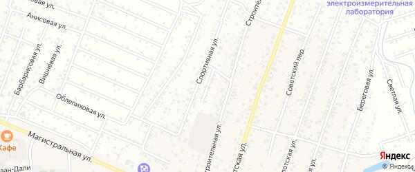 Строительный переулок на карте села Поселье с номерами домов