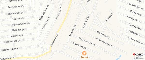 Мирная улица на карте села Поселье с номерами домов