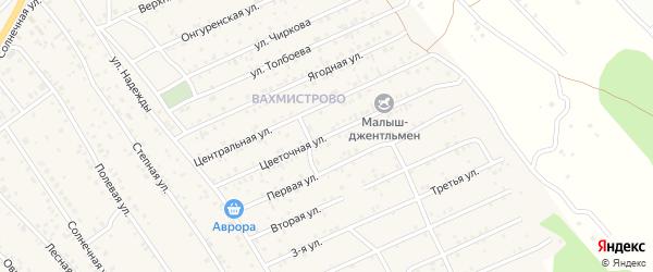 Цветочная улица на карте ДНП Вахмистрово с номерами домов