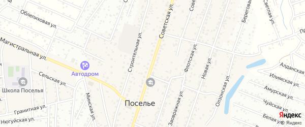 Советская улица на карте села Поселье с номерами домов
