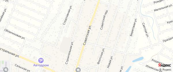 Учхозная улица на карте территории ДНТ Ургасы с номерами домов