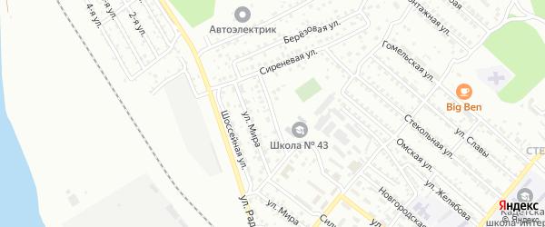 Составная улица на карте Улан-Удэ с номерами домов