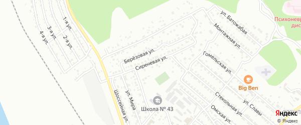 Сиреневая улица на карте Улан-Удэ с номерами домов