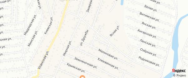Солнечная улица на карте территории ДНТ Алтаргана с номерами домов