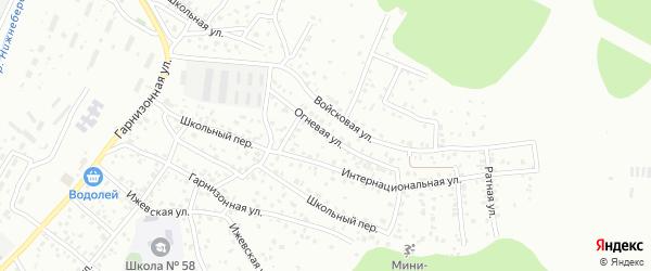 Огневая улица на карте Улан-Удэ с номерами домов