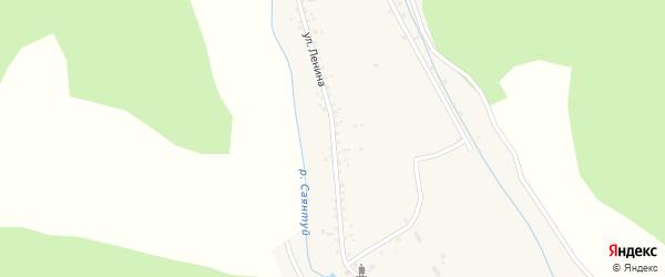 Улица Ленина на карте села Верхнего Саянтуя с номерами домов