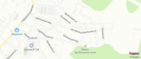Школьный переулок на карте Улан-Удэ с номерами домов
