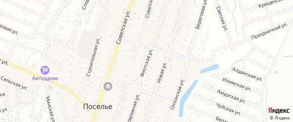Флотская улица на карте села Поселье с номерами домов
