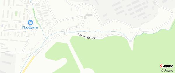 Каменная улица на карте Улан-Удэ с номерами домов