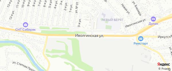 Иволгинская улица на карте Улан-Удэ с номерами домов