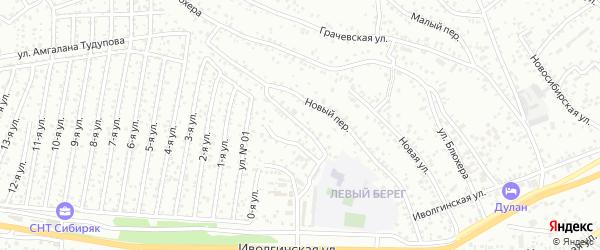 Иволгинский переулок на карте Улан-Удэ с номерами домов