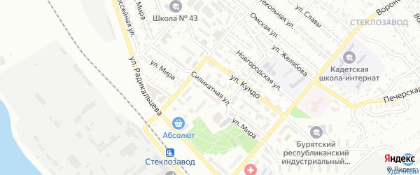 Силикатная улица на карте Улан-Удэ с номерами домов