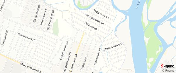 Территория ДНТ Жемчуг на карте села Поселье с номерами домов