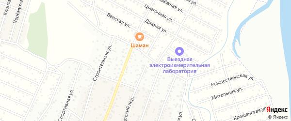 Ивовая улица на карте территории ДНТ Родника с номерами домов