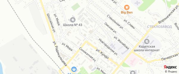 Керамическая улица на карте Улан-Удэ с номерами домов