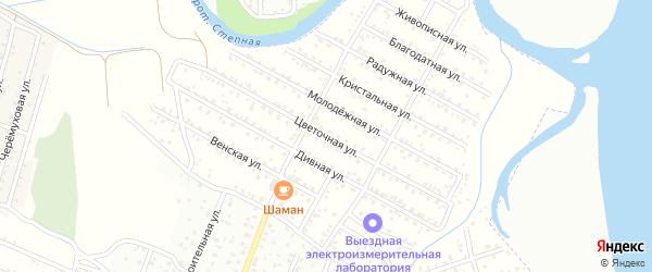 Цветочная улица на карте территории ДНТ Радуги с номерами домов