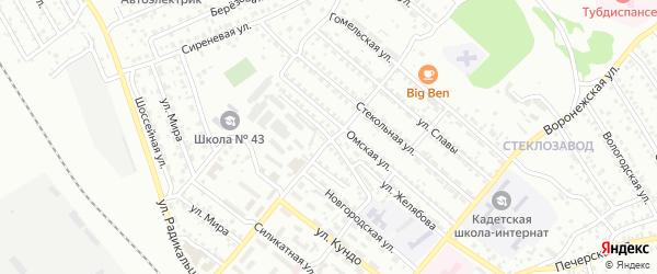 Улица Новостройка на карте Улан-Удэ с номерами домов
