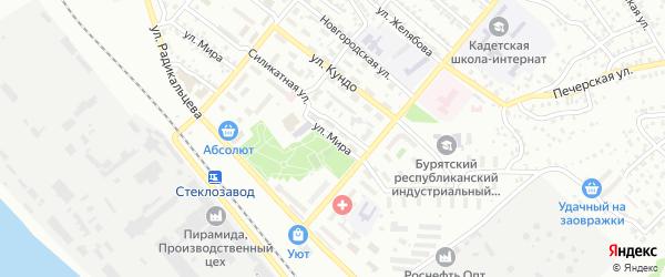 Улица Мира на карте Улан-Удэ с номерами домов