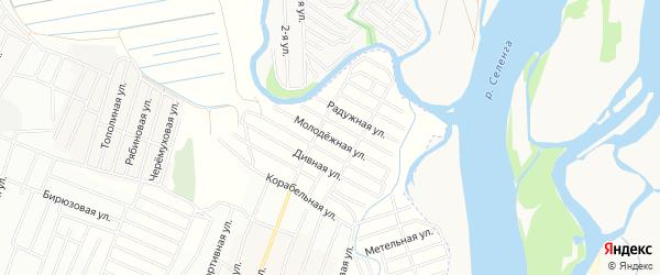 ДНТ Эдем Молодежная территория на карте Иволгинского района с номерами домов