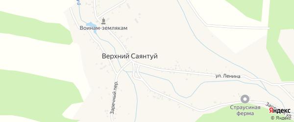 Лесная улица на карте села Верхнего Саянтуя с номерами домов