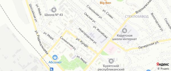 Технологическая улица на карте Улан-Удэ с номерами домов