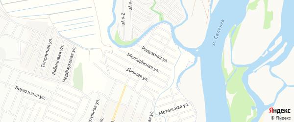 ДНТ Эдем Радужная территория на карте Иволгинского района с номерами домов