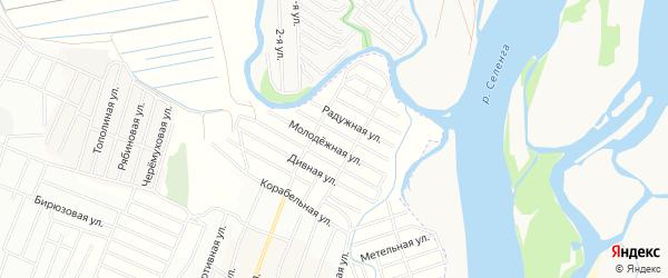 ДНТ Эдем Кристальная территория на карте Иволгинского района с номерами домов